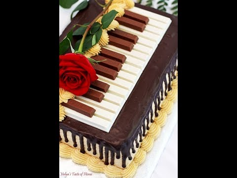 How To Make a Piano Cake Tutorial