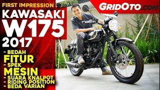 Kawasaki W175 2017 l First Impression | GridOto