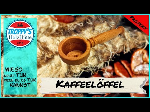 Kaffeelöffel/Kaffee-Messlöffel/schnell und einfach selbst gedrechselt