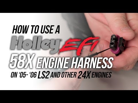 How to use a Holley EFI 58x Harness on 24x Engines