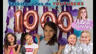 REACCIONANDO A FELICITACIONES DE YOUTUBERS : KARINA Y MARINA, SILVIA SANCHEZ, FAMILIA PANDA.