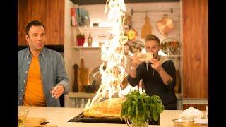 Пицца огонь!!! Маттео и Костя Павлов