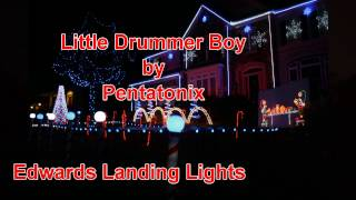 2016 Christmas Light Show - Little Drummer Boy by Pentatonix