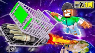 My SHOPPING CART Got 1,000,000 SPEED!! (Roblox)