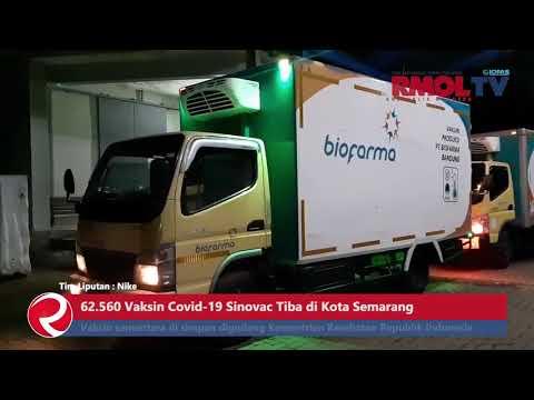 62.560 Vaksin Covid 19 Sinovac Tiba di Kota Semarang