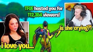 TFUE *MAKES GIRL CRY* then RAIDS HER STREAM! (Fortnite)