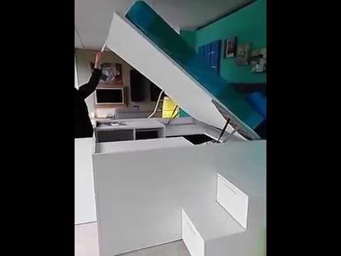 Container il letto con l'armadio sotto