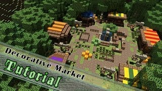 Minecraft Tutorial: How To Build An Attractive Medieval Market! ( Jeracraft )