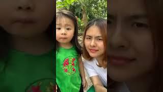 Diễn viên Vân Trang cùng con gái iu ăn tết ở quê ngoại