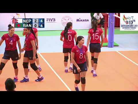 SAG WOMENS VOLLEY BALL NEPAL VS BANGLADESH HIGHLIGHTS