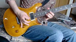 """solo part of """"dream is over"""" (story of the year) with PRS custom24 & Blackstar HT-5"""
