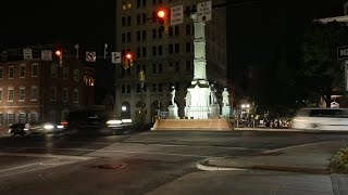 preview picture of video 'Lancaster At Night 9-21-14; Downtown and Amtrak Station'