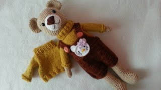Simple Knit Bear S Sweater / Bear Outfit