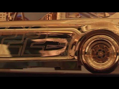 Joey Logano gets his gold car