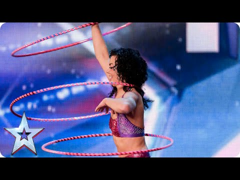 Lisa's gotta lotta hoops, but does she know how to use them?| Britain's Got Talent 2015