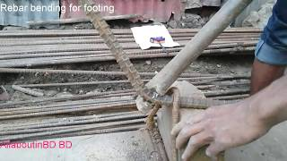 How to bend rod  by hand | Manual Rebar Bender
