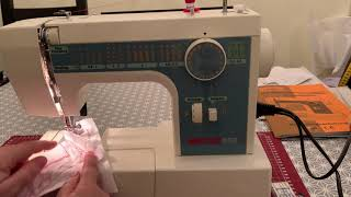 Necchi 559 Nähmaschine Programme und Bedienung