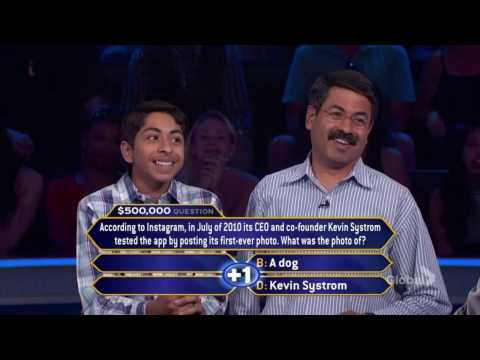 Who Wants To Be A Millionaire? - Sojas Wagle's $50k, 100k, 250k & 500k Question [S15-Ep46]