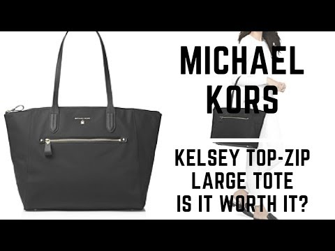 Michael Kors Kelsey Large Top-Zip Tote Review| Is It worth It?