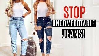 HOW TO DIY UNCOMFORTABLE JEANS! / CLOTHES HACKS