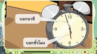 สื่อการเรียนการสอน นาฬิกาและการบอกเวลา ป.3 คณิตศาสตร์