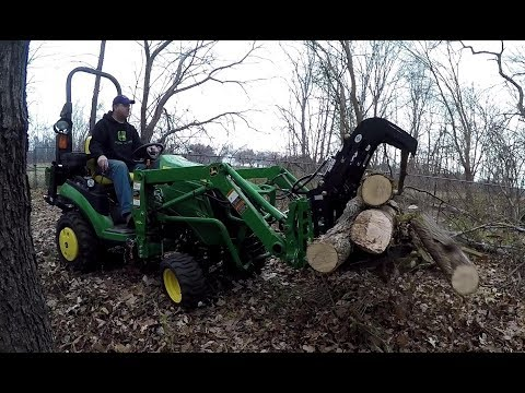 Grapple: Dangerous Task and Lessons Learned - First Use - John Deere 1025R