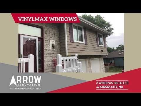 3 Vinylmax Slider Windows on Kansas City, MO Home