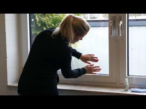 Verklebeanleitung Glasdekorfolie | Milchglasfolie | Sichschutzfolie | Tutorial | Fenster | Glas