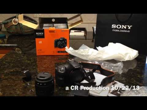 Sony Alpha STL-A58: Unboxing