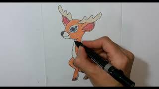 تحميل و مشاهدة كيف ترسم غزال ( ريم ) - How to Draw a Deer MP3