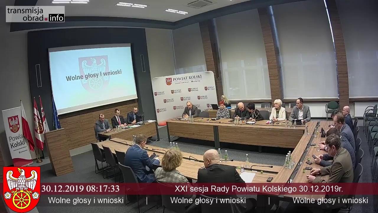 Zdjęcie do XXI Sesja Rady Powiatu Kolskiego