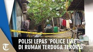 Polisi Lepas 'Police Line' di Rumah Terduga Pelaku Bom Bunuh Diri di Pos Pantau Tugu Kartasura