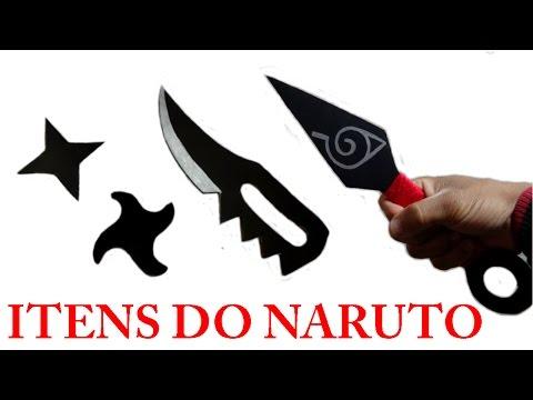 Como fazer  Kit de Itens do Naruto de Papelão