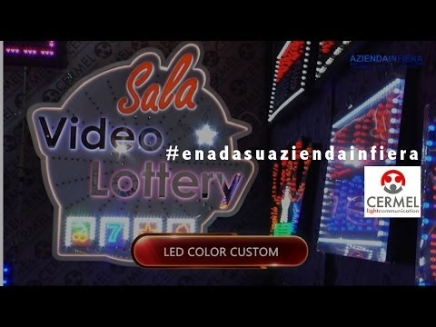 Display luminosi a led per sale gioco