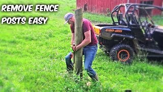 Easy Way to Remove Fence Posts!