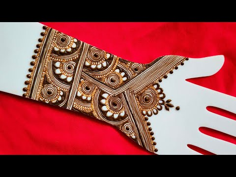 , title : 'Heavy Front+Back Hand Henna Design, Beautiful Mehndi Flowers Design||2021/2022.