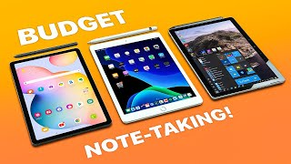 iPad 7th gen + 8th gen vs Tab S6 Lite vs Surface Go 2 - BUDGET Note-taking!