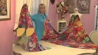 Смотреть онлайн Платье в пол из ситца, урок шитья