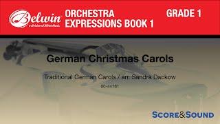 German Christmas Carols Arr. Sandra Dackow - Score & Sound
