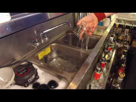 3 compartment sinks bartending tips