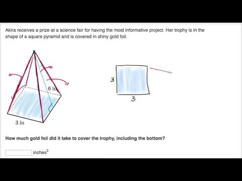 dd4f1aa2133e Surface area word problem example (video)