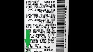 How to Find Your NISSAN Paint Code