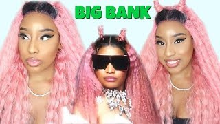 "🌈COLORING SERIES:RECREATING NICKI MINAJ  ""BIG BANK"" W/  $35  SYNTHETIC WIG! FT. MANE CONCEPT (2018)"