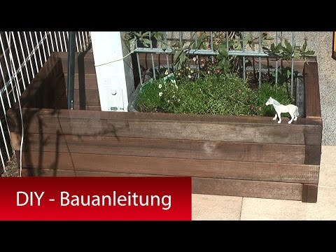 Pflanzkasten, Pflanzkübel mit Rankhilfe selber bauen - DIY Tutorial Bauanleitung