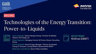 "Webinar ""Power-to-Liquids"", by EsadeGeo and Repsol Foundation."