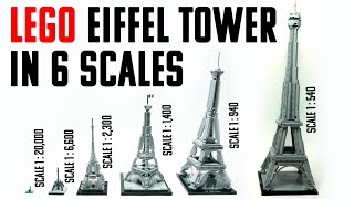 LEGO EIFFEL TOWER IN 6 SCALES