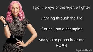 Roar   Katy Perry (Lyrics)