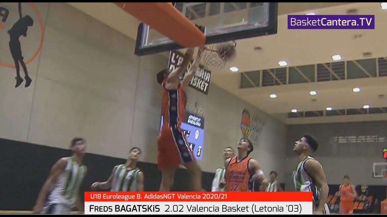 FREDS BAGATSKiS  2.02 Valencia Basket (Letonia '03). Euroleague B. AdidasNGT Valencia 2020-21