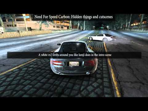 Need For Speed Carbon Hidden Things and Cut Scenes