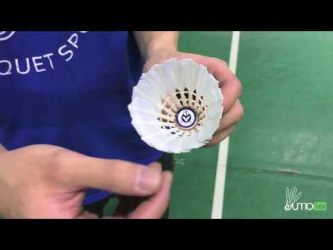 How To Test & Adjust the Speed of a Badminton Feather Shuttlecock - YumoTube